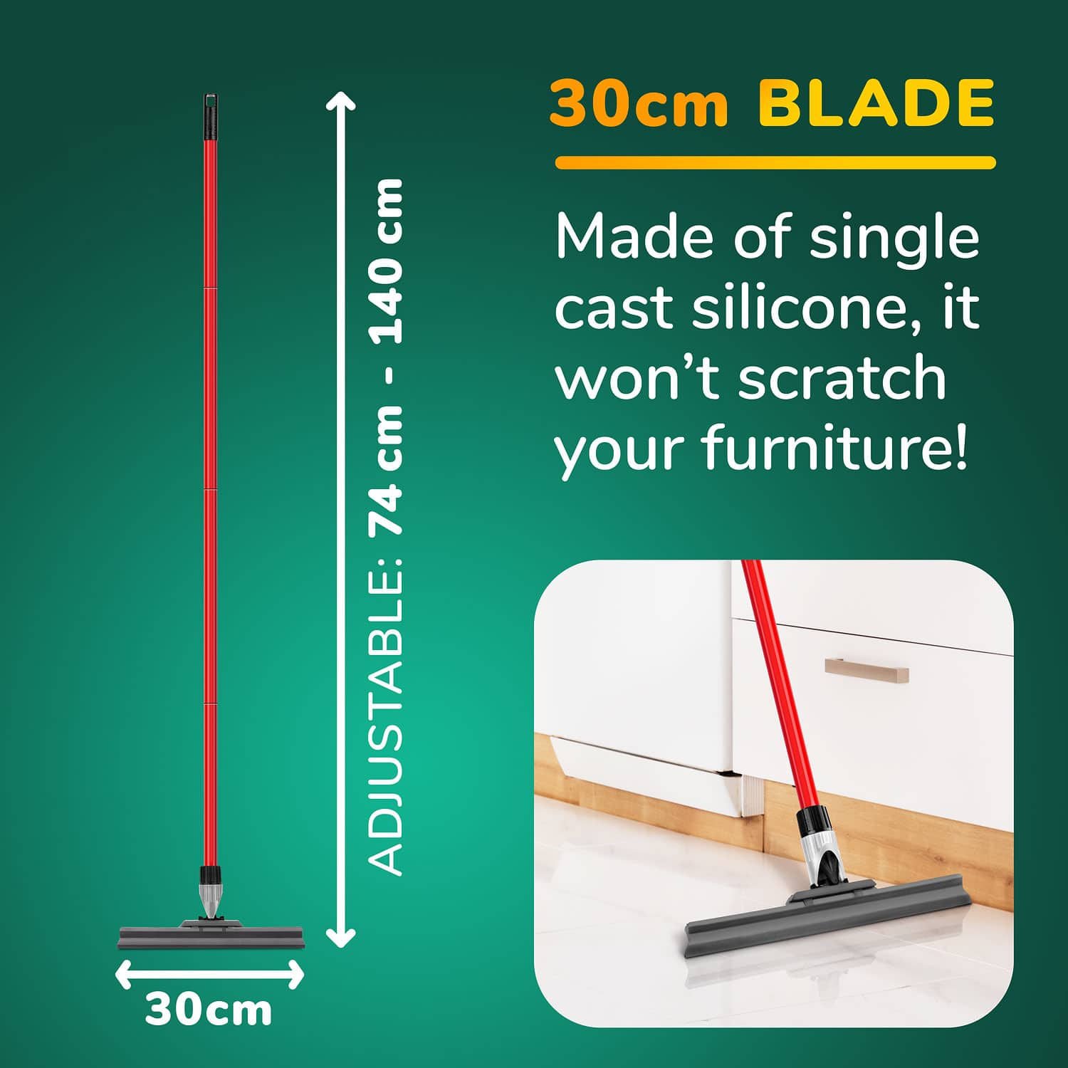 Silicone Knuckle Joint Squeegee 30