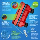 Magnetic window cleaning kit