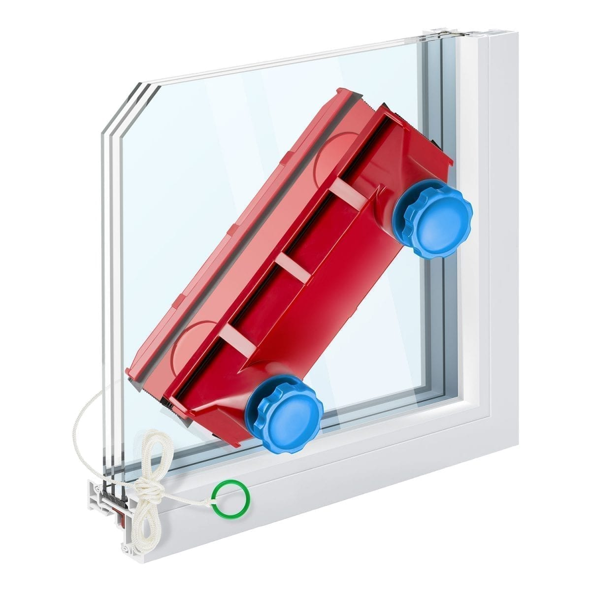 The Glider D-3 AFC Magnetic Window Cleaner Indoor and Outdoor Glass Pane Cleaning | Single or Double Glazed Window 2-28mm/0.08″-1.1″ | Adjustable Magnetic Force