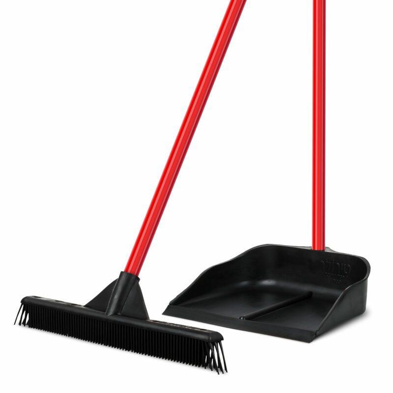 Ruber broom and dusrpan sets