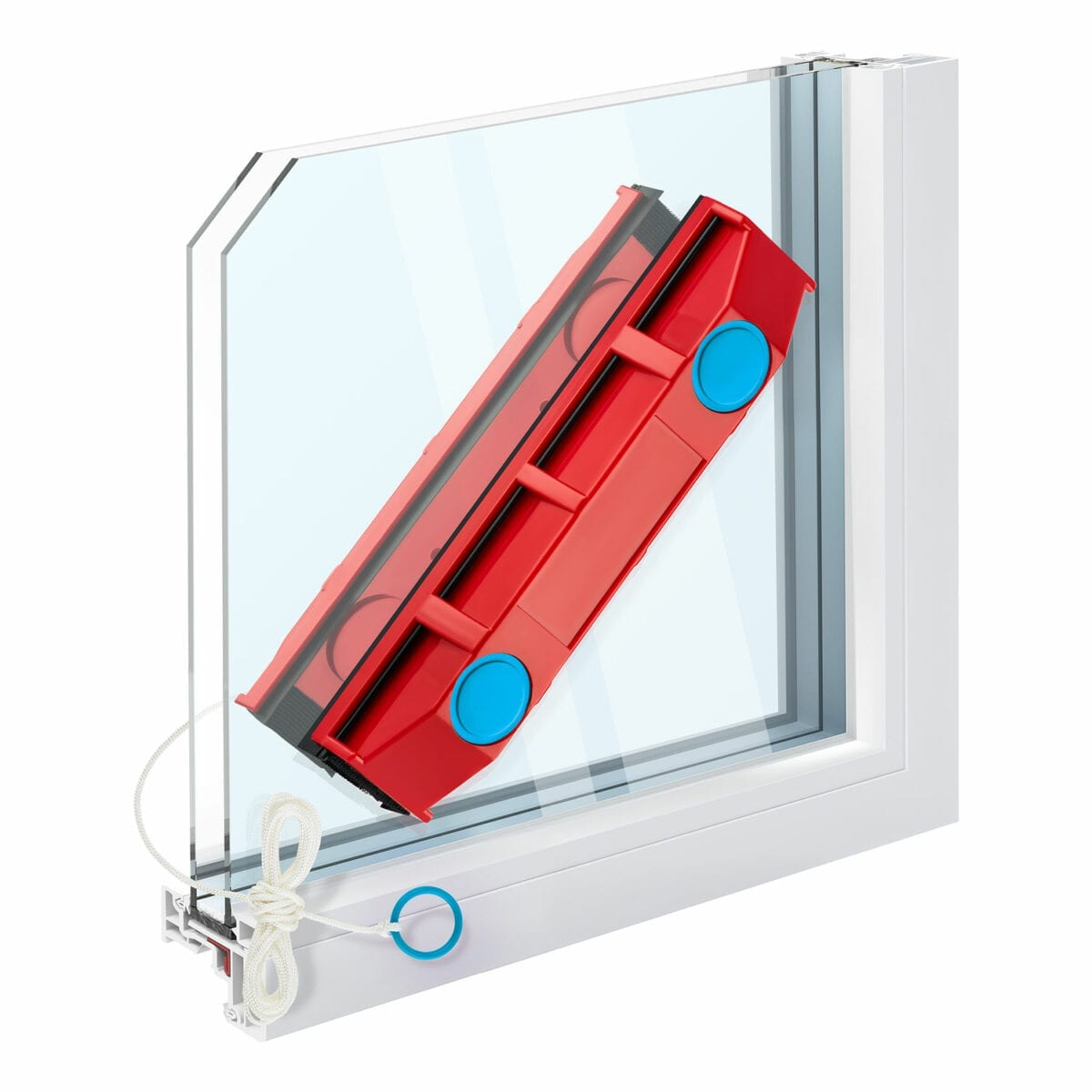 The Glider D2 magnetic window cleaner