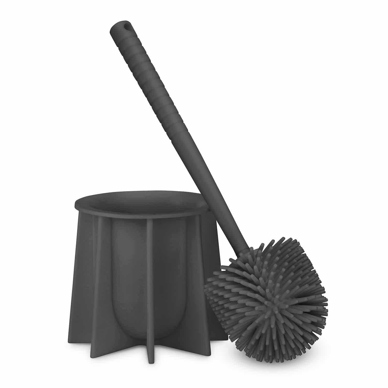 Silicone toilet brush gray