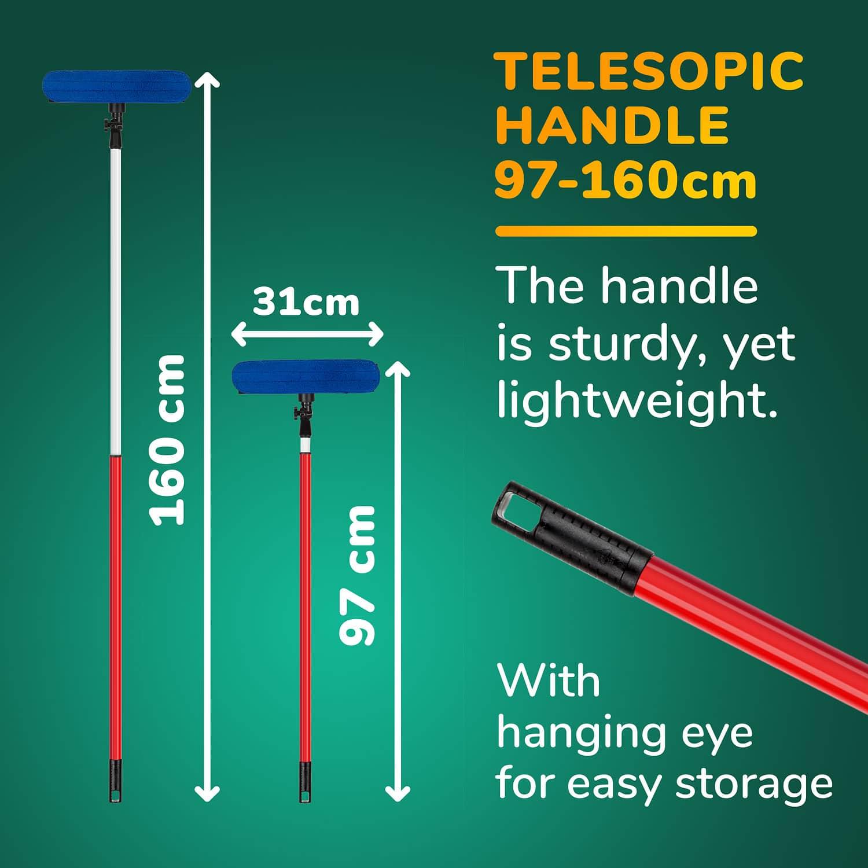רב-מגב טלסקופי לניקוי חלונות גבוהים 1.6M