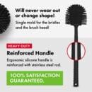 Toilet brush with silicone bristles