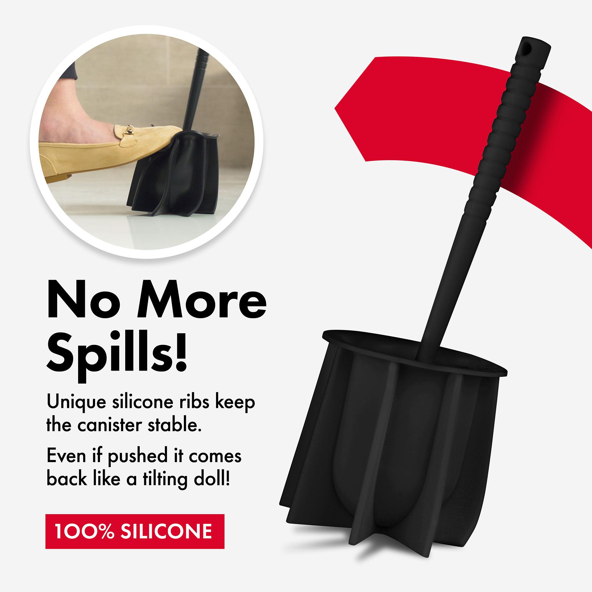 Silicone Toilet Brush black