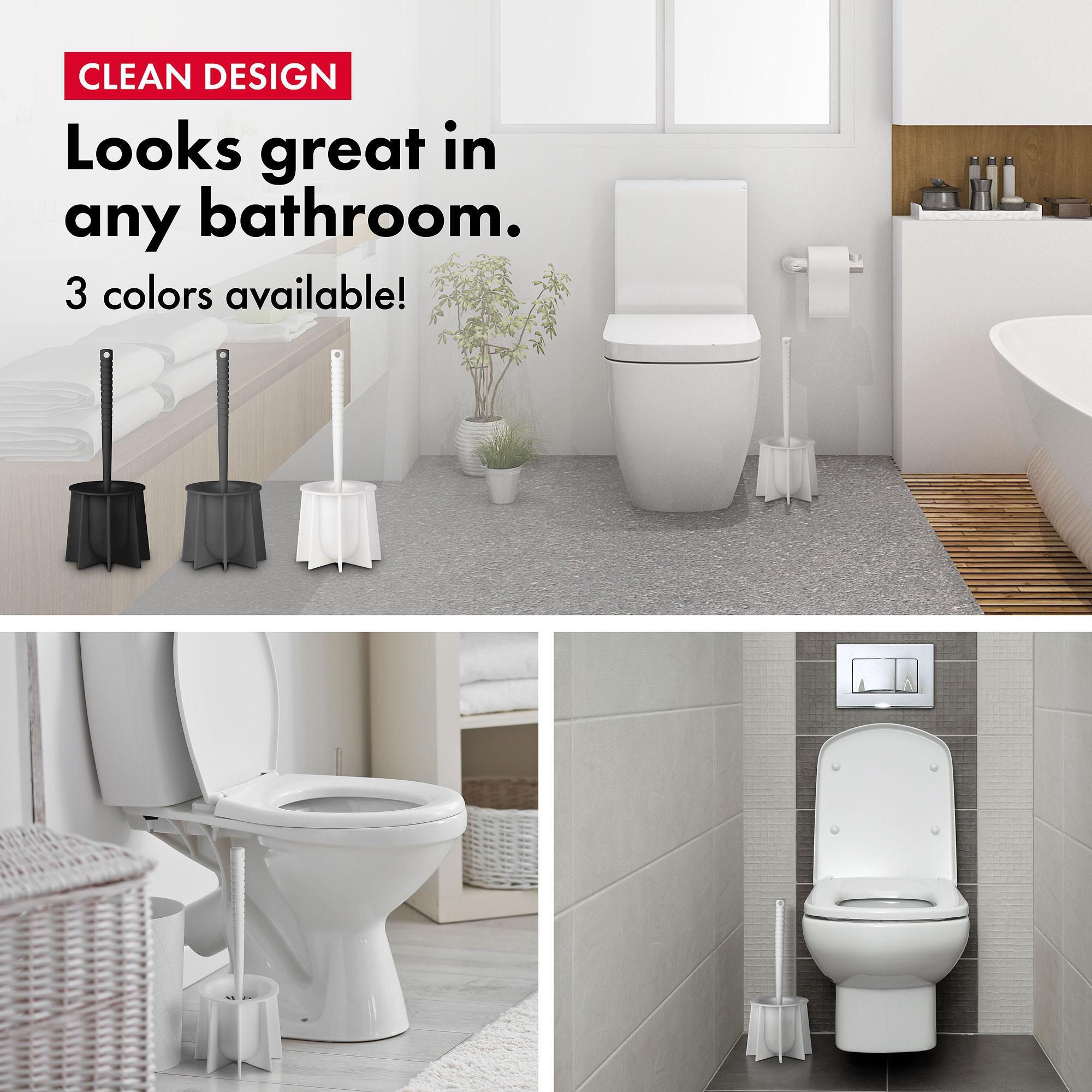 Silicone Toilet Brush white